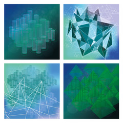 Set Of Modern Abstract Background Templates