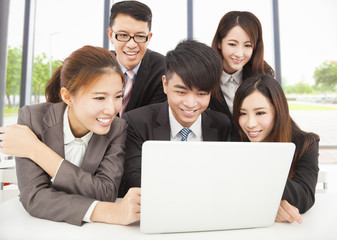 professional asian business team working in office