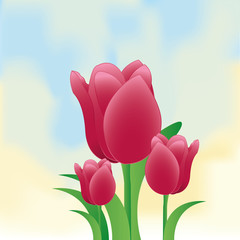 Stylish Flower Illustration Isolated On Background