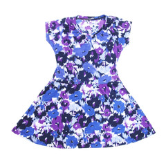 kid's dress with flora pattern on white background