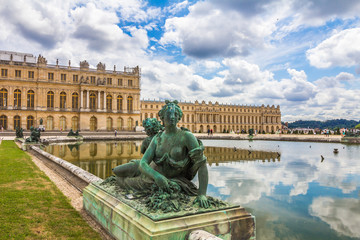 Statue in Versailles Palace garden near Paris