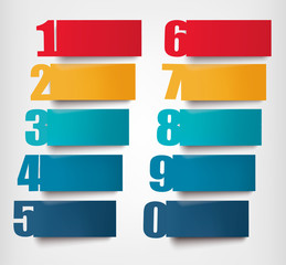 Info graphics banners with numbers and litters..Retro design tem