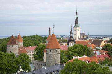 Облачный летний день в старом Таллине