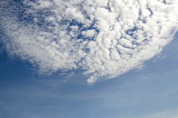 beautiful fresh, bright clouds with blue sky in bright day