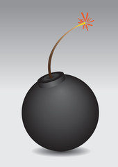 Bomb vector illustration