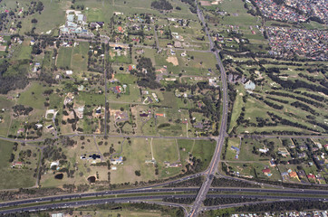 Aerial view of a typical highway