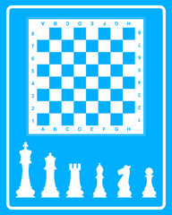 White icon of chess