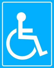 white icon wheelchair