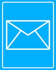 white postal envelope icon