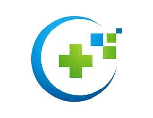 medicine health plus icon,global data logo,business care symbol