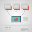 Folder icons Business set - illustration