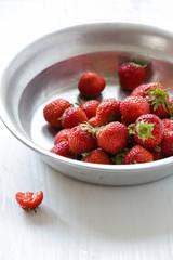 Erdbeeren in der Schale