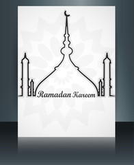 Beautiful card for brochure template ramadan kareem reflection m