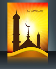 Ramadan Kareem brochure mosque template festival for beautiful r
