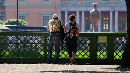 Man and woman in the park