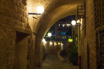 Street in Old Jaffa port.