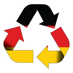 Recycle symbol flag - Germany