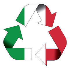 Recycle symbol flag - Italy