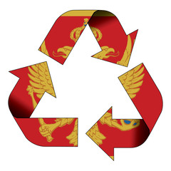 Recycle symbol flag - Montenegro