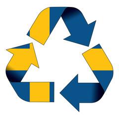 Recycle symbol flag - Sweden
