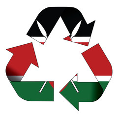 Recycle symbol flag - Kenya