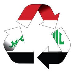 Recycle symbol flag - Iraq