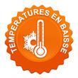 températures en baisse sur bouton web denté orange