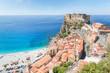 View over Scilla with Castello Ruffo, Calabria, Italy