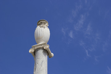 ancient roman column in ventotene
