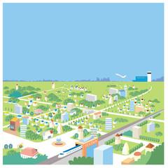 街の風景.1(鳥瞰図)