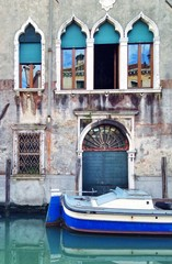 Haus mit Boot in Venedig
