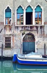 Haus mit Boot in Venedig