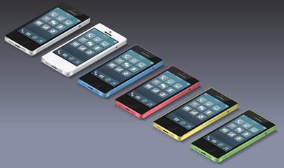 Smartphones isométrique