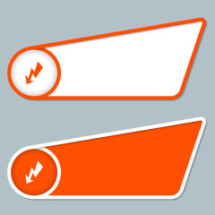 two orange boxes for any text with flash symbol