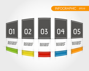 colorful rounded infographics with fringe