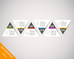 colorful timeline from triangles
