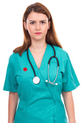 Portrait of a young female doctor with stethoscope