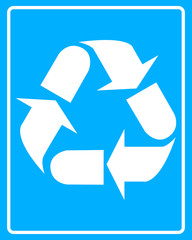white recycling bin icon