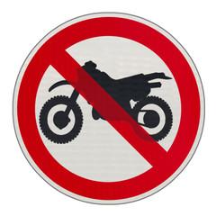 panneau interdit aux motos