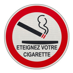 panneau, éteignez votre cigarette ici