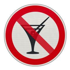 panneau interdiction, alcool, interdit aux mineurs