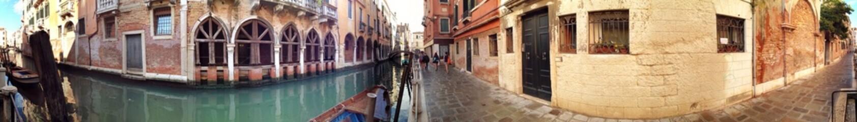 Panorama in Altstadt von Venedig