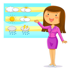 female weather reporter