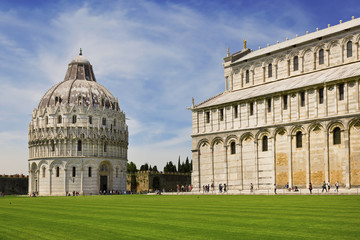 Architectural ensemble on the Piazza dei Miracoli in Pisa