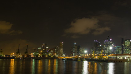 Port of Singapore Authority Time Lapse at Night 1080p