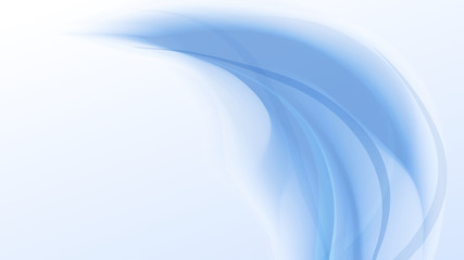 soft light blue waves abstract background vector illustration
