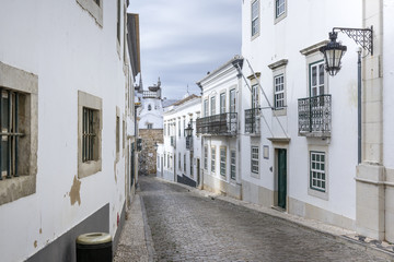 Historic, old district in Faro, Portugal