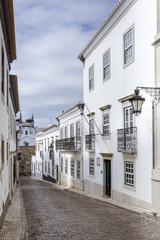 Historic, old district in Faro, Algarve