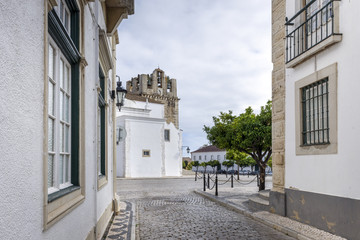 Old town district in Faro, Portugal