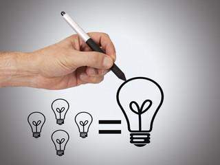 hand with idea